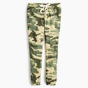 ❌SOLD❌ J Crew Dreamy Pajama Jogger Pant in Camo